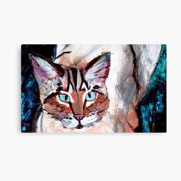 White Cat - An image for family or living rooms Canvas Print