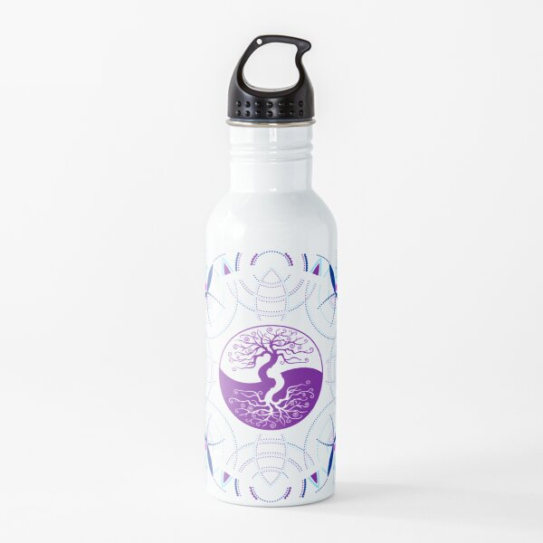 Yin Yang Tree of Life Mandala - Sacred Geometry Water Bottle