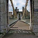 Conwy Suspension Bridge.Conwy North Wales by tunna