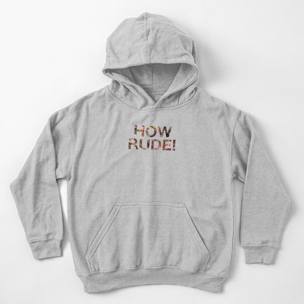 How Rude! Kids Pullover Hoodie