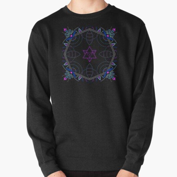 Merkaba / Startetrahedron Symbol Mandala - Sacred Geometry Pullover Sweatshirt