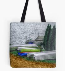 Six Boats In A Row  Tote Bag
