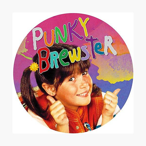 Punky  - vintage 80s TV show sitcom Photographic Print