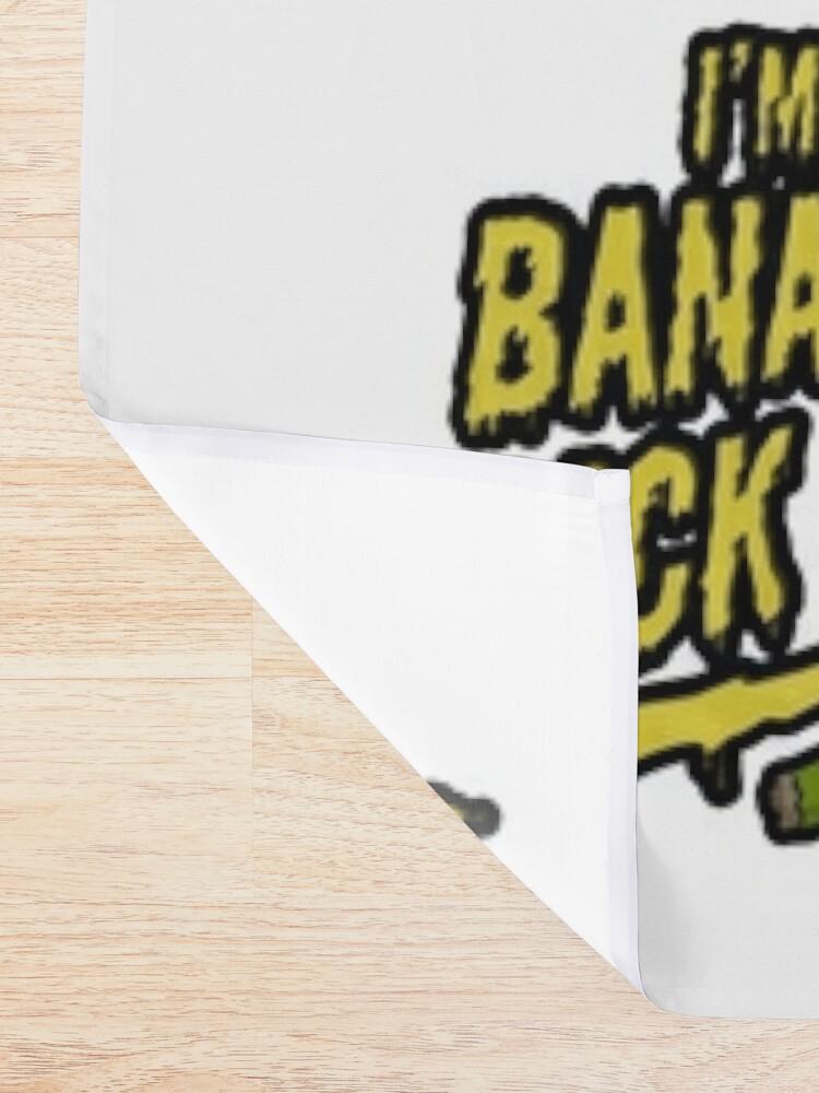 Alternate view of I'm Banana Rick! Shower Curtain