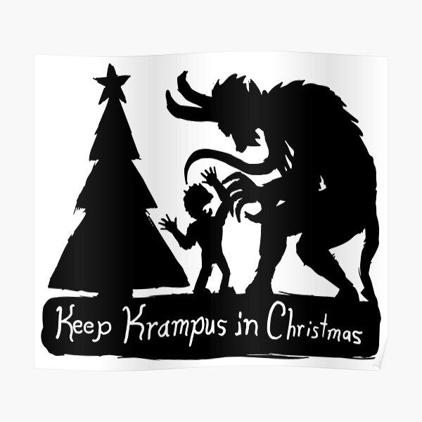 Keep Krampus in Christmas Poster