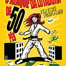 Attack of the 50 Foot Lutadora by Meerkatsu