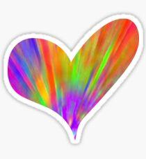 Cool Tie-Dye Heart Sticker