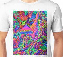 BLACKLIGHT NEON MOTHER NATURE SHROOM GARDEN Unisex T-Shirt