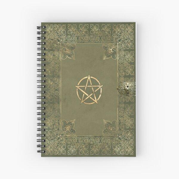 Yule pentagram Spiral Notebook