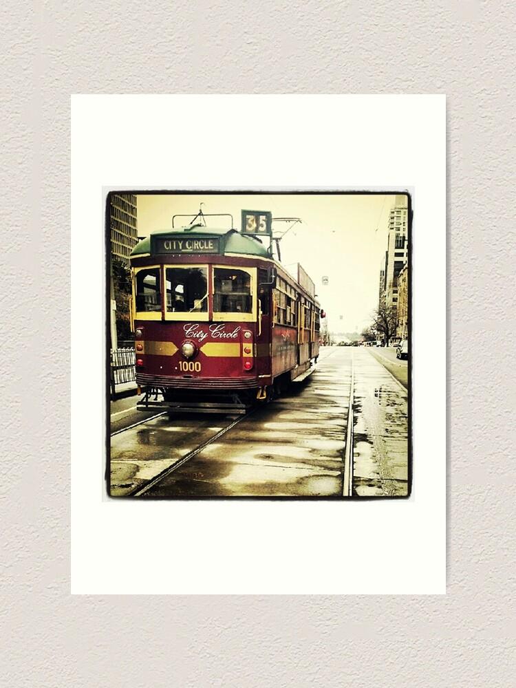 Alternate view of Melbourne Tram Art Print