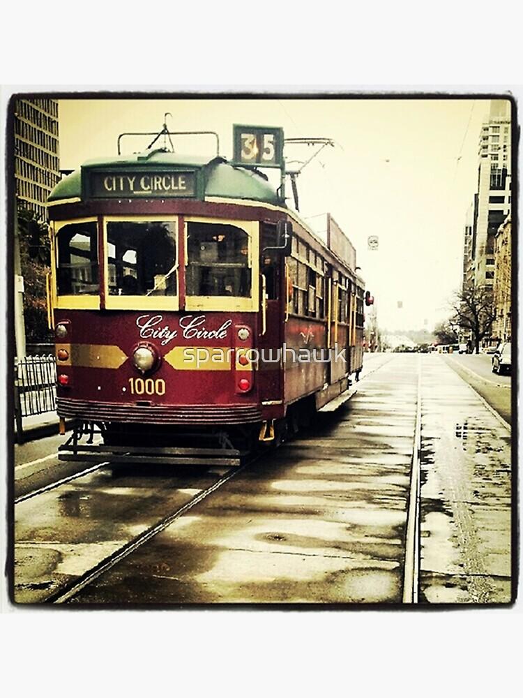 Melbourne Tram by sparrowhawk