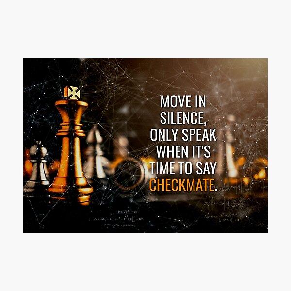 Move in silence (orange) Photographic Print