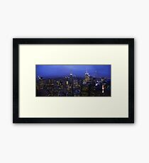 Lights of Manhattan Framed Print