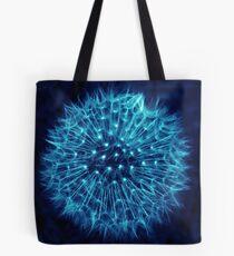 Dandelion Ink Blue Tote Bag
