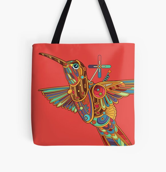 Xantus Hummingbird All Over Print Tote Bag