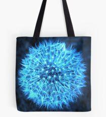 Dandelion Electric Blue Tote Bag