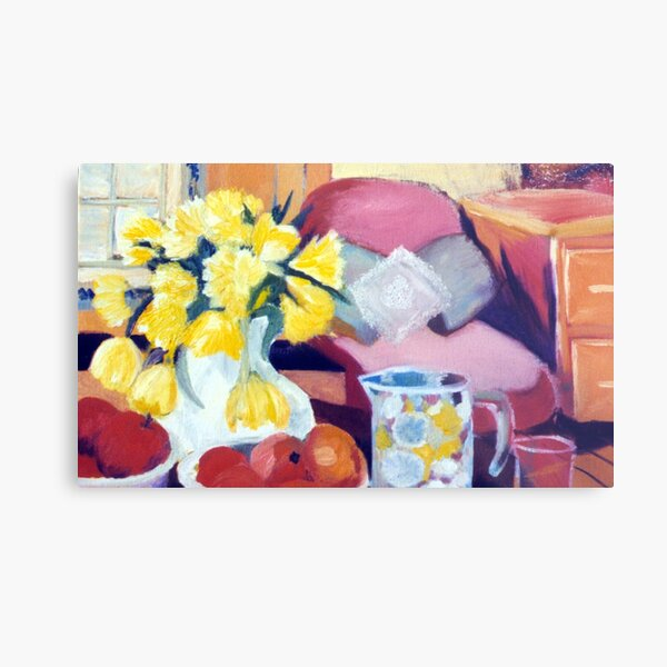 Flowers, fruit and water - image for dining areas Metal Print