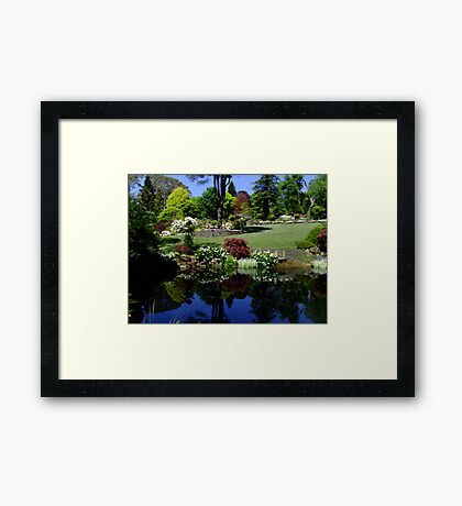 Windy Ridge Garden, Mt Wilson Framed Print