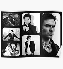 Ian Somerhalder in Black and White Poster