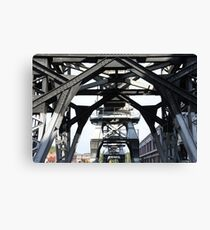 Engineering Works on Bristol Docks Canvas Print