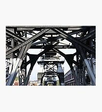Engineering Works on Bristol Docks Photographic Print