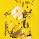 Yellow still life by Mara Irbe