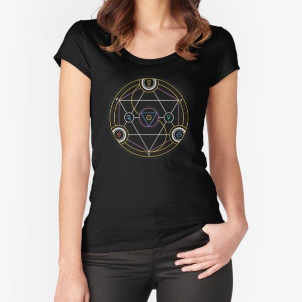 Alchemy Transmutation Circle - Self-development Symbol Fitted Scoop T-Shirt
