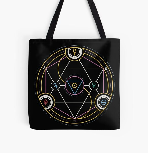 Alchemy Transmutation Circle - Self-development Symbol All Over Print Tote Bag
