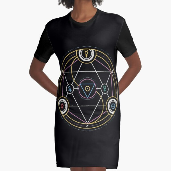 Alchemy Transmutation Circle - Self-development Symbol Graphic T-Shirt Dress