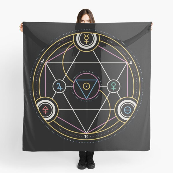 Alchemy Transmutation Circle - Self-development Symbol Scarf