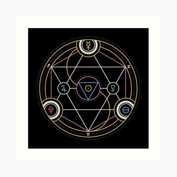Alchemy Transmutation Circle - Self-development Symbol Art Print