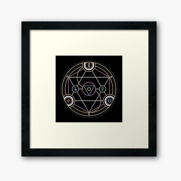 Alchemy Transmutation Circle - Self-development Symbol Framed Art Print