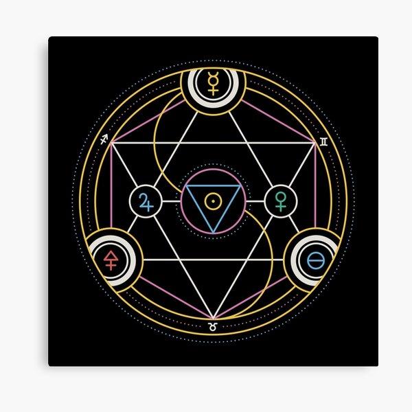Alchemy Transmutation Circle - Self-development Symbol Canvas Print