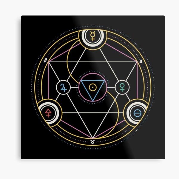 Alchemy Transmutation Circle - Self-development Symbol Metal Print