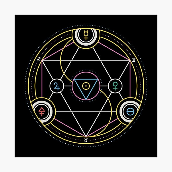 Alchemy Transmutation Circle - Self-development Symbol Photographic Print