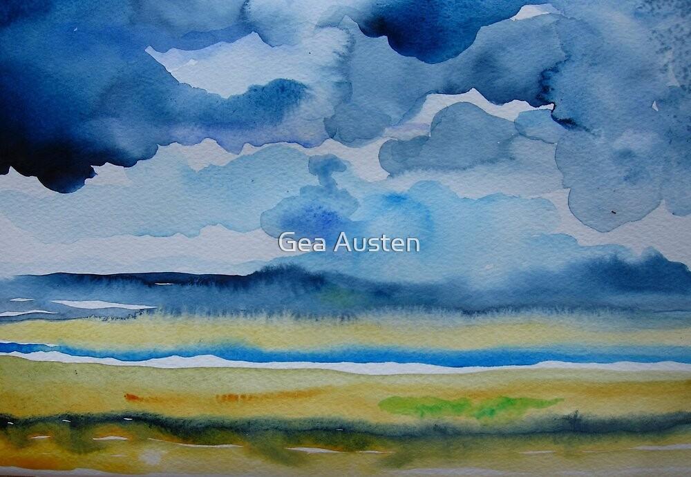 TORRIDGE ESTUARY RAIN CLOUDS by Gea Austen