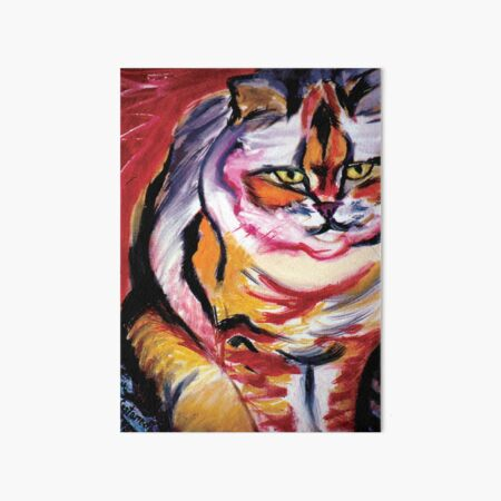 Red Cat - Enhancement for Fame, Reputation and Social Life Art Board Print