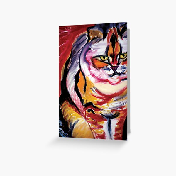 Red Cat - Enhancement for Fame, Reputation and Social Life Greeting Card