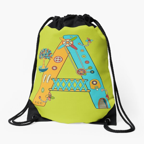 A for Armadillo, from the AlphaPod collection Drawstring Bag