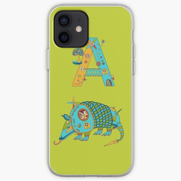 A for Armadillo, from the AlphaPod collection iPhone Soft Case