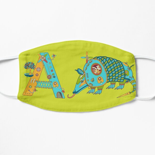 A for Armadillo, from the AlphaPod collection Flat Mask