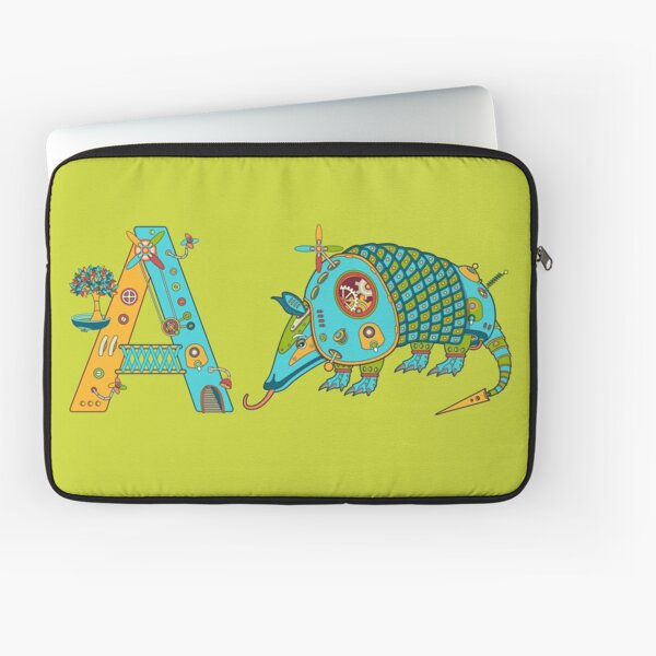 A for Armadillo, from the AlphaPod collection Laptop Sleeve
