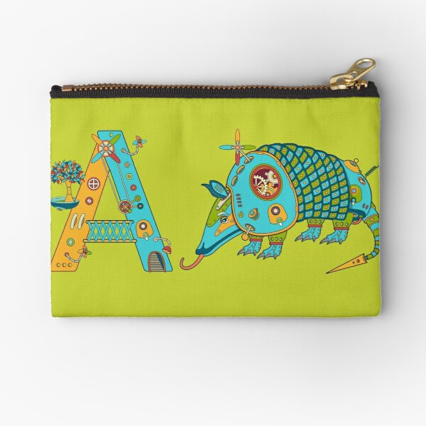 A for Armadillo, from the AlphaPod collection Zipper Pouch