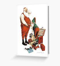 Santa and his Tailor Greeting Card