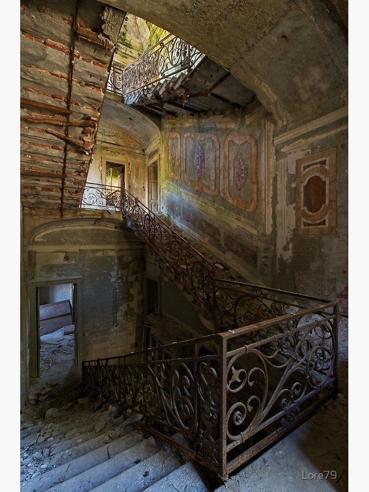 A gorgeous staircase of an abandoned villa  by Lore79