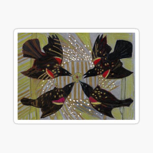 Four Calling Birds Sticker