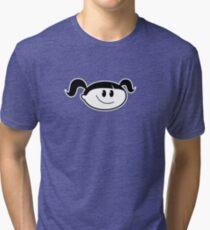 Normal Girl - Basic / Outline Tri-blend T-Shirt