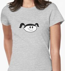 Normal Girl - Basic / Outline Womens Fitted T-Shirt
