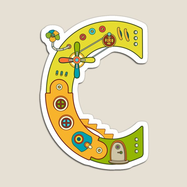 Copy of C for Chameleon, from the AlphaPod collection Magnet