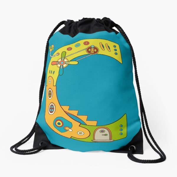 Copy of C for Chameleon, from the AlphaPod collection Drawstring Bag